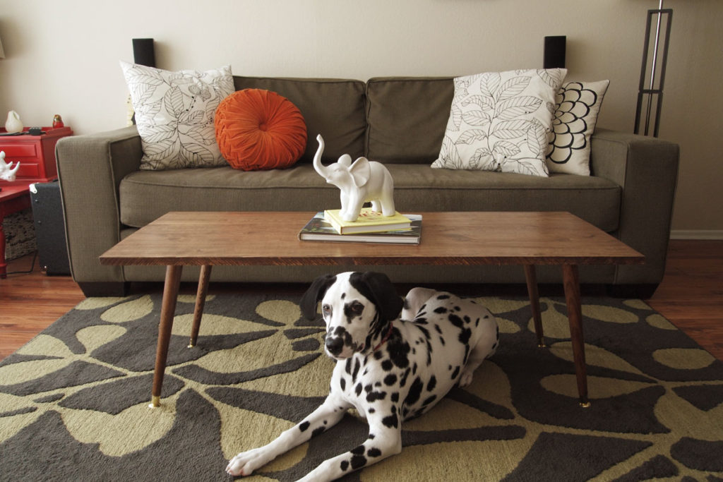 DIY MidCentury Modern Coffee Table Jamie Bartlett Design - Cheap modern coffee table set